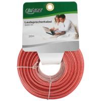 Câble haut-parleurs, InLine®, 2x 2,5mm², CCA, transparent, 20m