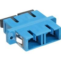 LWL accouplement, InLine®, Duplex SC/SC, single mode, bleu, manche en céramique