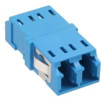 Adaptateur de fibre optique InLine® duplex pour manchon en céramique LC / LC SM bleu
