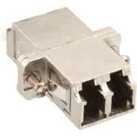 Adaptateur de fibre optique InLine®, manchon en céramique duplex LC / LC MM en métal avec bride