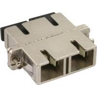 Adaptateur métallique en fibre optique InLine® avec manchon en céramique SC / SC MM duplex et bride