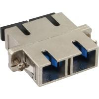 Adaptateur métallique en fibre optique InLine® avec manchon en céramique SC / SC SM duplex avec bride