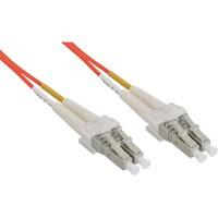 LWL câble duplex, InLine®, LC/LC 50/125µm, 0,5m