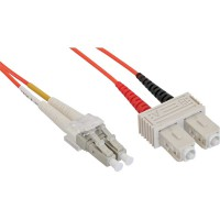 LWL câble duplex, InLine®, LC/SC 50/125µm, 20m