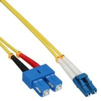 LWL câble duplex, InLine®, LC/SC 9/125µm, 3m