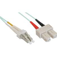 Câble duplex optique en fibre InLine® LC / SC 50 / 125µm OM3 15m