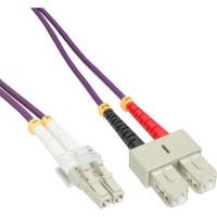 Câble duplex optique en fibre InLine® LC / SC 50 / 125µm OM4 1m