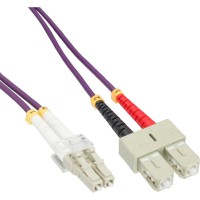 Câble duplex optique en fibre InLine® LC / SC 50 / 125µm OM4 10m