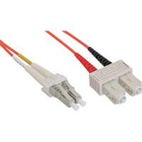 LWL câble duplex, InLine®, LC/SC, 50/125µm, 0,5m
