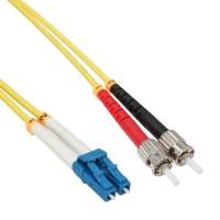 Câble duplex optique en fibre InLine® LC / ST 9 / 125µm OS2 2m