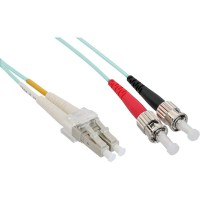 Câble duplex optique en fibre InLine® LC / ST 50 / 125µm OM3 1m