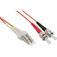 LWL câble duplex, InLine®, LC/ST 50/125µm, 0,5m