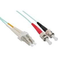 Câble duplex optique en fibre InLine® LC / ST 50 / 125µm OM3 0.5m