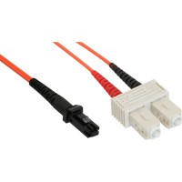 LWL câble duplex, InLine®, MTRJ/SC, 50/125µm, 5m