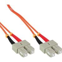 LWL câble duplex, InLine®, SC/SC 50/125µm, 0,5m
