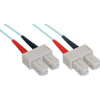 Câble duplex optique en fibre InLine® SC / SC 50 / 125µm OM3 0.5m