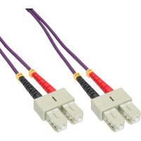 Câble duplex optique en fibres InLine® SC / SC 50 / 125µm OM4 0.5m