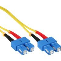 Câble duplex à fibres optiques InLine®, SC / SC 9 / 125µm, OS2, 0.5m