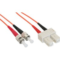 LWL câble duplex, InLine®, ST/SC 50/125µm 10m