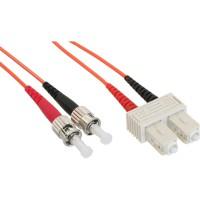 LWL câble duplex, InLine®, ST/SC 50/125µm, 2m