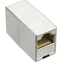 Accouplement câble patch 2x RJ45 fem. blindé