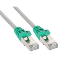 Câble de raccordement PC à PC Crossover InLine®, F / UTP Cat.5e, gris, 1 m