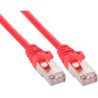 Câble patch, S-FTP, Cat.5e, rouge, 0,5m, InLine®