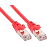 Câble patch, S-FTP, Cat.5e, rouge, 15m, InLine®