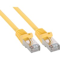 Câble patch, S-FTP, Cat.5e, jaune, 0,5m, InLine®