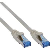 Câble patch Cat.6(A) S-STP/PIMF, InLine®, sans halogènes 500MHz, gris, 1m