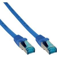 Câble patch Cat.6(A) S-STP/PIMF, InLine®, sans halogènes 500MHz, bleu, 1m
