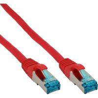 Câble patch Cat.6(A) S-STP/PIMF, InLine®, sans halogènes 500MHz, rouge, 1m