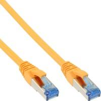 Câble patch Cat.6(A) S-STP/PIMF, InLine®, sans halogènes 500MHz, jaune, 1m