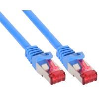 Câble patch InLine® S / FTP PiMF Cat.6 250 MHz sans cuivre halogène bleu 1 m