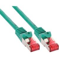 Câble de raccordement InLine® S / FTP PiMF Cat.6 250 MHz sans cuivre halogène vert 0,5 m