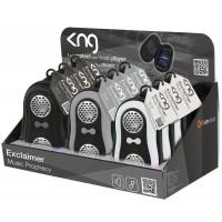KNG présentoir de comptoir avec 9 sacoches haut-parleur