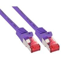 Câble patch, S-STP/PiMF, Cat.6, pourpre, 0,3m, InLine®
