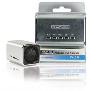 König haut-parleur USB 2x 3 W portable