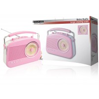 König retro design AM / FM radio pink