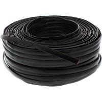 Câble modulaire, 8 fils ruban noir, 100m Ring