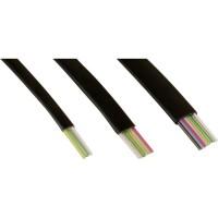 Câble modulaire, InLine®, 4 fils ruban noir, 100m Ring