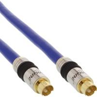 Câble S-VHS, InLine®, PREMIUM, prise doré, 4 broches mini DIN mâle/mâle, 1m