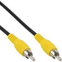 Câble Cinch, InLine®, vidéo, 1x Cinch mâle/mâle 0,5m, couleur de prise jaune