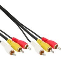 Câble Cinch, InLine®, Audio/vidéo 3x Cinch mâle/mâle 3m