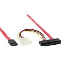 Câble SAS InLine® 29 broches SFF-8482 + Alimentation pour 1x cible SATA unique 0,5 m