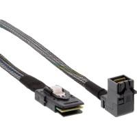 Câble InLine® Mini SAS HD SFF-8643 coudé sur SFF-8087 avec bande latérale de 0,5 m