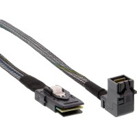 Câble InLine® Mini SAS HD SFF-8643 coudé sur SFF-8087 avec bande latérale de 1 m