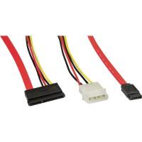 Câble de raccordement SATA, InLine®, avec raccordement prise réseau et électrique, 50+15cm
