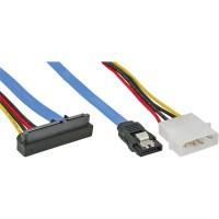 Connexion InLine® SATA Câble coudé avec connecteur d'alimentation