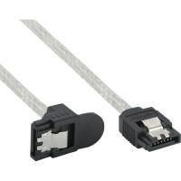 Câble rond InLine® SATA 6Gb / s avec loquets coudés à 0,5 m
